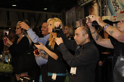 Beauty professionals capturing the moment at ISSE Long Beach 2012