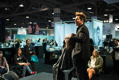 Keratin Complex team presenting their signature service at ISSE Long Beach 2013.