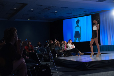 Model from the Faatemah Ampey show at ISSE Long Beach 2013.