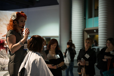 One of the most popular boothes at ISSE Long Beach 2013, Scruples, drew big crowds looking for the latest trends in color and cutting.