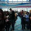 Beauty professionals line up for the first day of ISSE Long Beach 2013.
