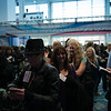 Beauty professionals prepare for the opening of ISSE Long Beach 2013.
