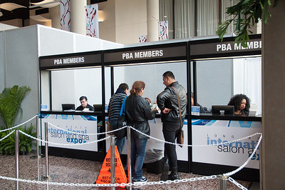 PBA members had their own check in lines at ISSE Long Beach 2013.