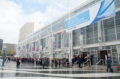 Light rain couldn't keep attendees away from ISSE Long Beach 2013. Expedited check in processes allowed attendees to access the show floor very quickly.