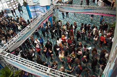 Lines moved fast as big crowds entered ISSE Long Beach 2013.