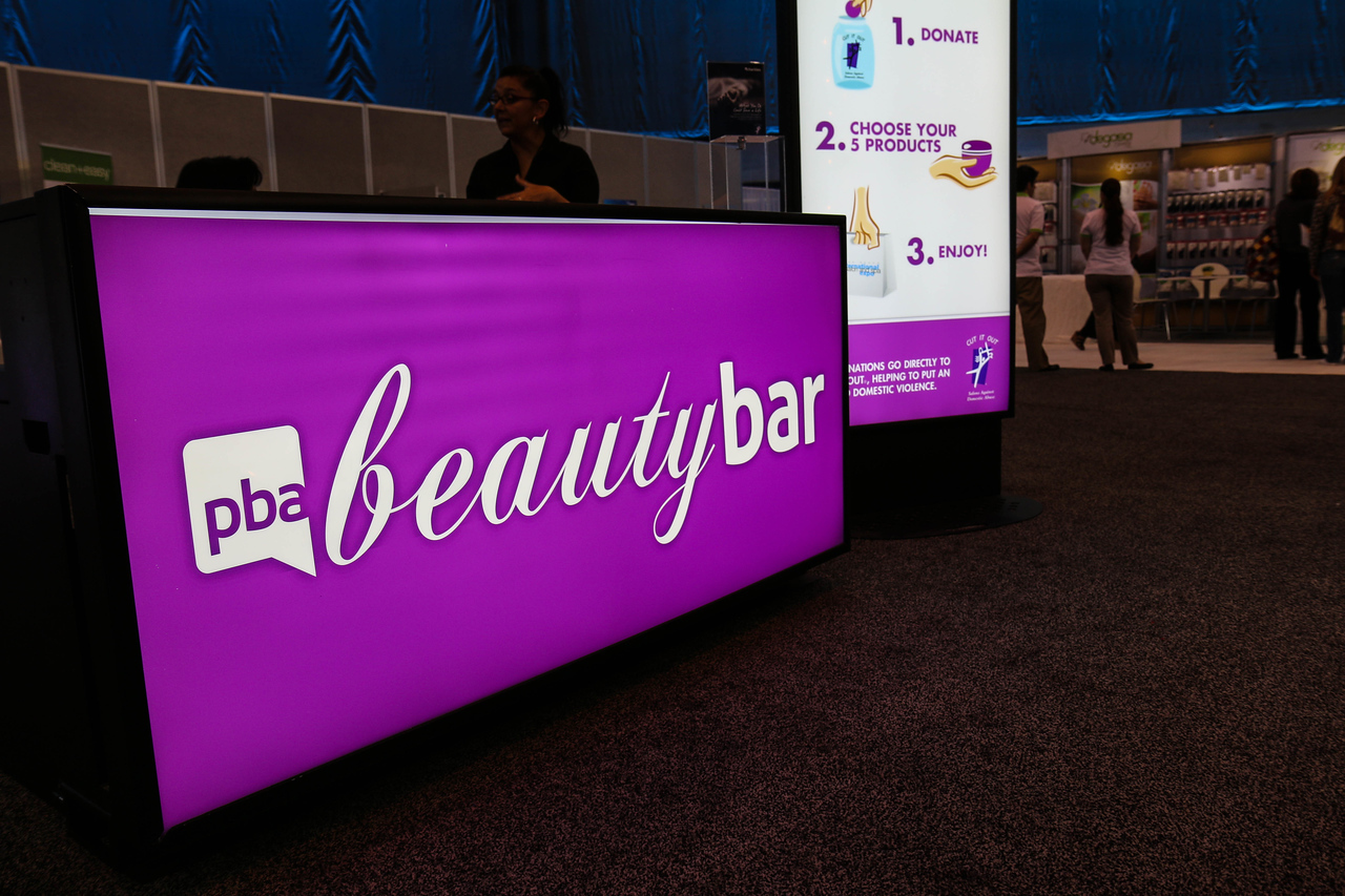 PBA Beauty Bar, located inside the  ESTHETICSAMERICA & Wellness Pavillion.