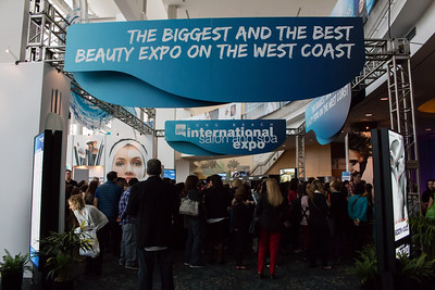 Attendees line up outside the doors for the first day of ISSE Long Beach 2014