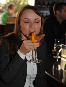 "Download high quality photographs from this gallery showing people having fun at restaurant ""Via Brasil Steakhouse"" in Summerlin Las Vegas with ISVodka happy hour tasty vodka martinis and summer cocktails."