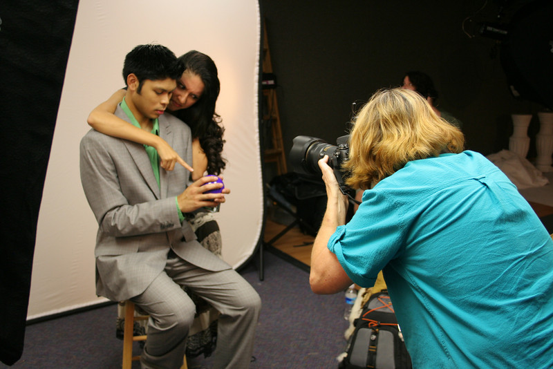 #5338: Bonnie (eyejoy) shooting models Nick and Ana