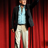Sir Ian McKellen points to a member of the audience to ask a question at the Florida State School of Theater on October 27, 2009.