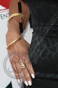 BELAIR, CA - APRIL 21:  Television personality Anita Gohari (jewelry detail) arrives at The Influence Affair hosted by Ian Somerhalder on April 21, 2012 in Belair, California.  (Photo by Chelsea Lauren/Getty Images)