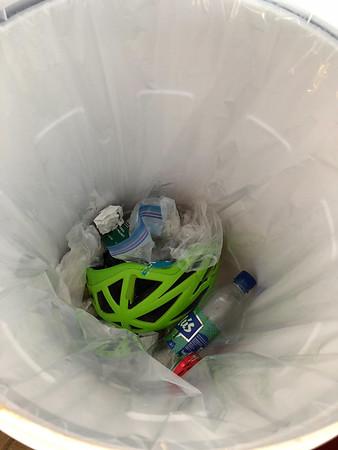 Broke my helmet. Into the trash it goes.