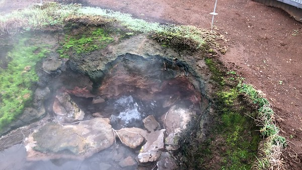 Bubbling hot pool at Geysir.
