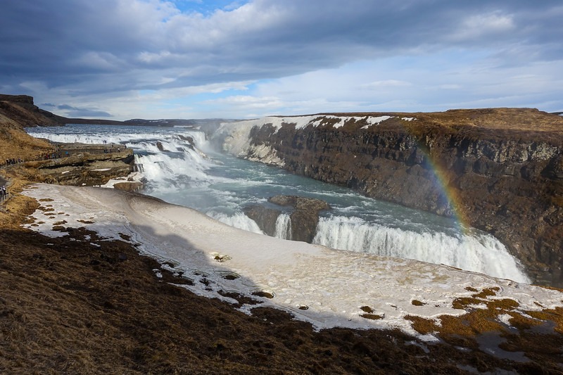 Gullfoss waterfall. This was a stunning, multi-level waterfall and the furthest point out from Reykjavik in our Golden Circle tour.