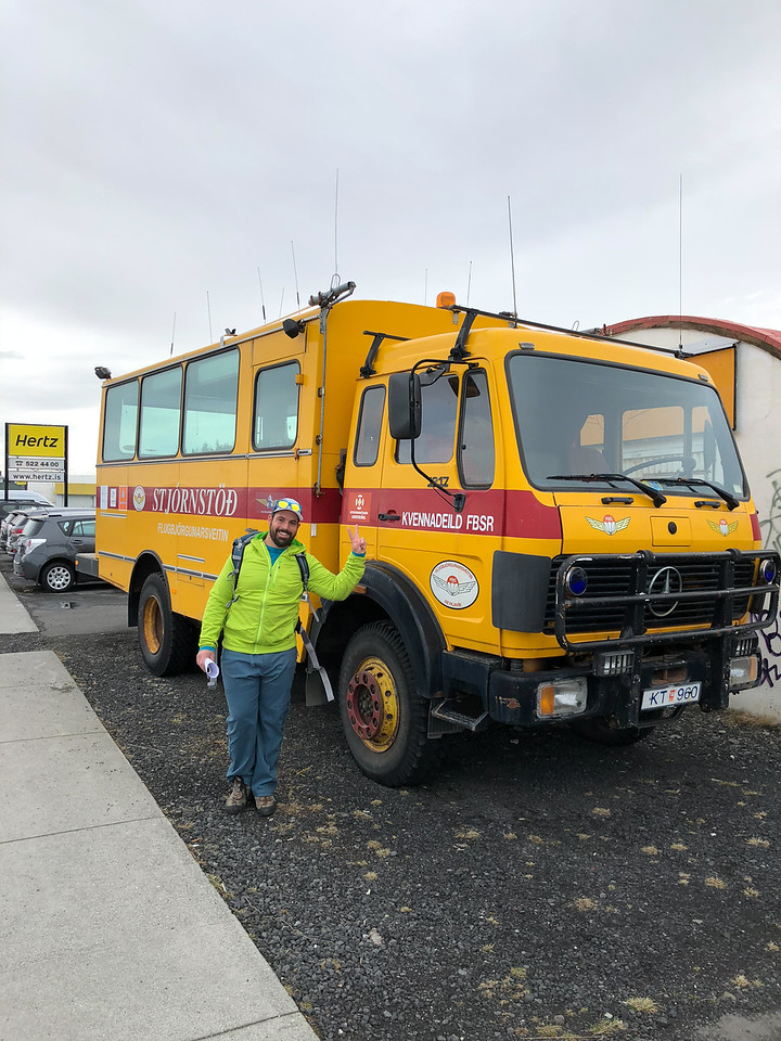 Cool SAR truck near the airport in Reykjavik. Like in King County, SAR is a 100% volunteer operation in Iceland. I had the opportunity to talk to one of the local rescue unit members. We shared notes. They're as well equipped as we are (if not more so...) with a beautiful base. What was most fascinating is that their stories sounded a lot like my stories - what kind of rescues they go on, volunteer response rates, and so on. This particular unit was founded in the 50s after a DC-3 crash. Their logo has a parachute because, well, they have a parachute rescue unit. They (the parachute rescue folks) have been called out twice in 50 years.