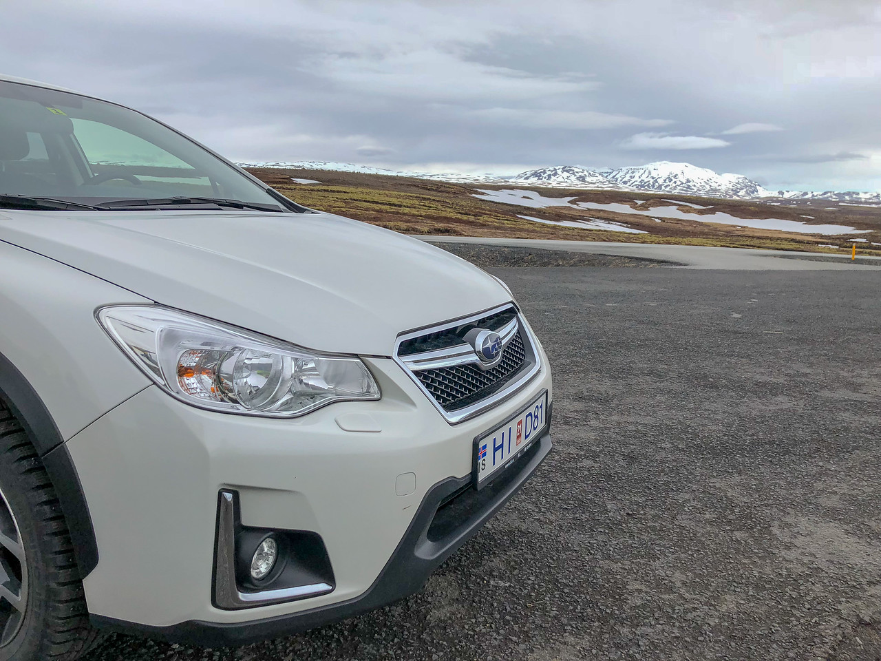 Driving the golden circle with Dad. Our ride was a cool subie. Awesome scenery here.