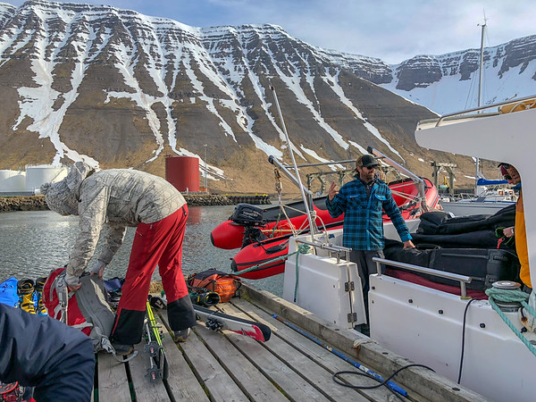 Loading up to head out to the lodge.