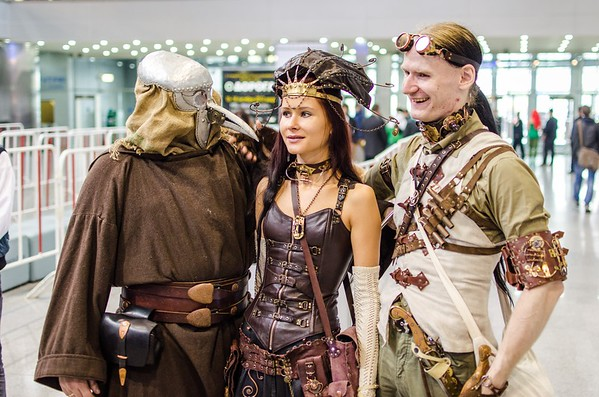 Steampunk cosplayers at Igromir 2012