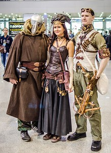 Steampunk cosplay at Igromir 2012