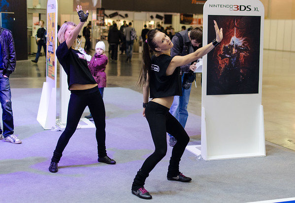 Dancing girls at Igromir 2012