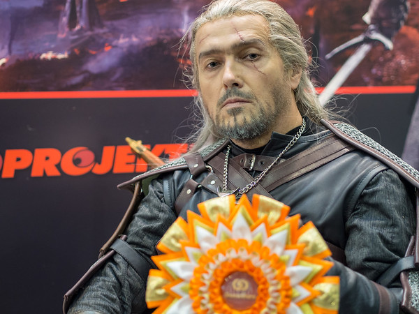 Valery as Geralt from Witcher 3 at Igromir 2013