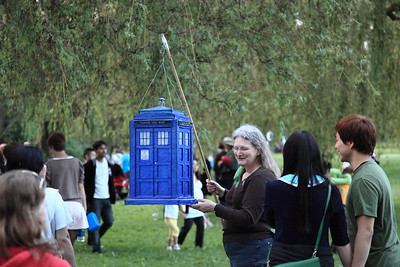TARDIS lantern! Probably one of the most structurally detailed ones there.  Sadly I didn't see it lit after dark.