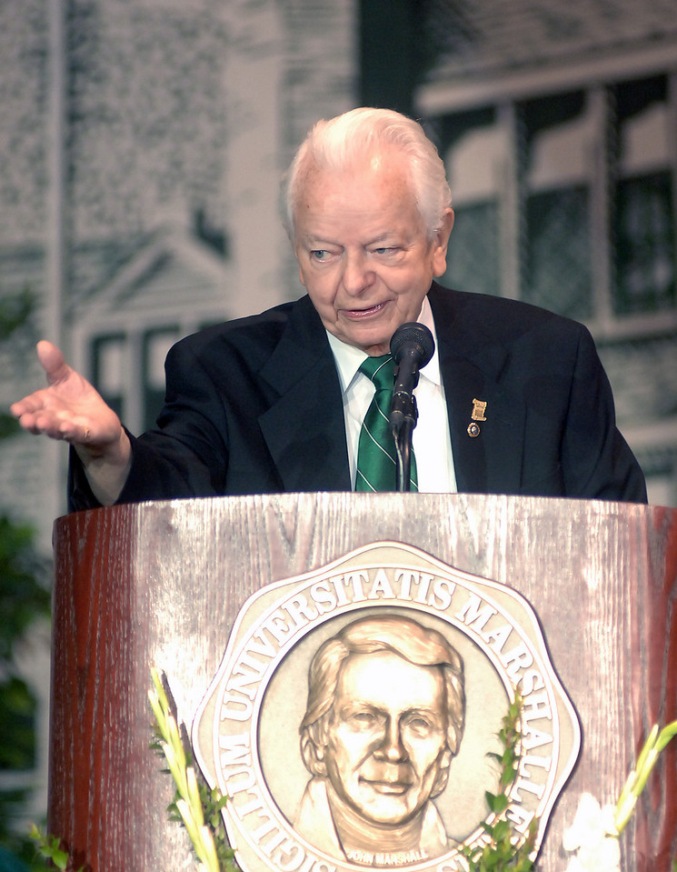 Senator Byrd at Marshall's 2006 Commencement, at which he received an honorary doctorate.