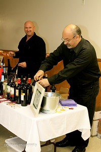Our friendly wine servers - Randazzo Package Store, of Stafford Springs, donated all the wines for the evening.