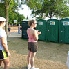 No long run is complete without lines for the porta-potties