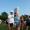 Waiting with Liz for start of race.  It was already 83 degrees & extremely humid at 7 AM<br /> Photo taken by Kathy Budny
