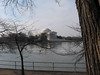 I walked from the Jefferson Memorial towards the Washington Monument.