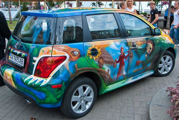 Painted car at Independence Day