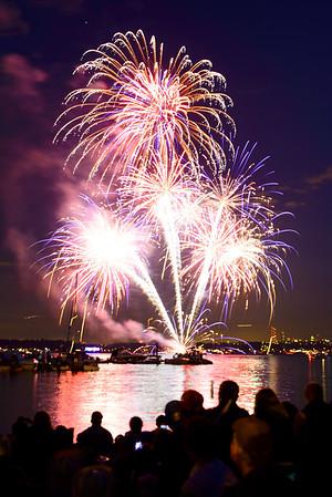 Fireworks from Marina Park
