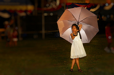 The local VFW post organized the Independence Day Celebration at Chiang Mai's Municipal Stadium.  The rain held off until the final fifteen minutes and failed to dampen spirts as the crowd watched the firework finale.