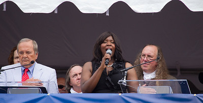 Michelle B. Johnson sings National Anthem