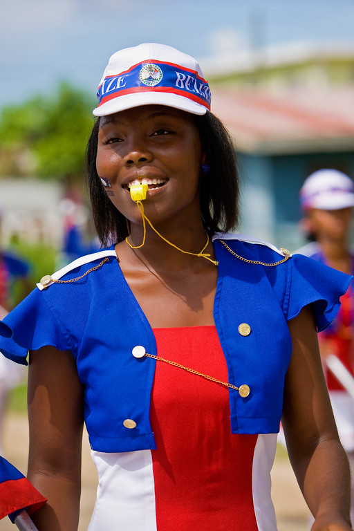 Scenes from Independence Day Parade in Dangriga, Stann Creek, Belize. Celebrating 29 years of Independence