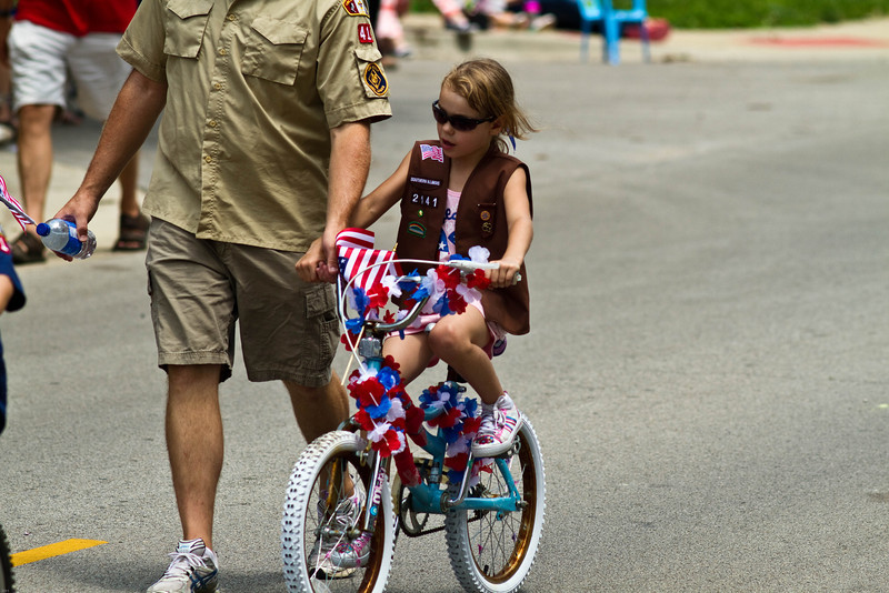 Red, White, and Blue Days at Charleston, IL, July 4, 2011