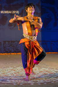 Dr Arkadev Bhattacharya, Bharatnatyam solo dance.  INTERNATIONAL INDIA DANCE FESTIVAL (IIDF MUMBAI 2018) 3rd March 2018. Organized by Aratrika Institute of Performing Arts and Samskritiki for its first season in Mumbai.  Classical dance styles, folk, contemporary and fusion were performed over three days of the festival (2nd, 3rd and 4th March 2018).