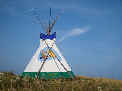 Sacred Fire tepee at Indian Summer Festival 2009.