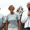 Diane Raver | The Herald-Tribune<br /> Mayor Mike Bettice (from right) thanks Batesville Bicentennial co-chairs Carolyn Dieckmann and Bill Flannery for all their hard work organizing the activities.