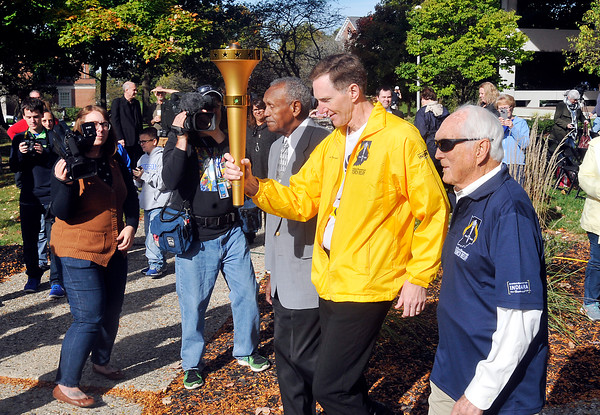John P. Cleary   The Herald Bulletin<br /> The Indiana Bicentennial Torch Relay through Madison County.