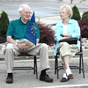 Diane Raver | The Herald-Tribune<br /> Don and Joan Karbowski wait for the torch to come into Batesville.