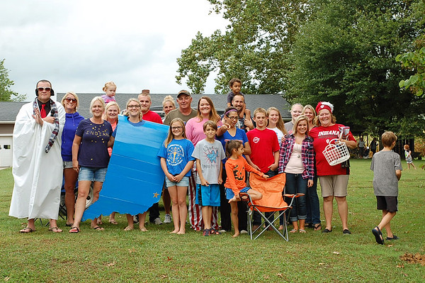 Photo courtesy of Carla Hacker<br /> A group of excited Indiana Bicentennial Torch Relay fans camped out along State Road 46 outside of Morris waiting to cheer participants on.