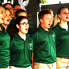 "Debbie Blank | The Herald-Tribune<br /> In Versailles as it rained, the South Ripley High School Young Confederates sang a ""Disney Dazzle"" medley that included ""Kiss the Girl"" from ""The Little Mermaid"" and ""Beauty and the Beast."""