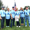 Photo courtesy of Julie Brock<br /> The family of longtime Sunman Town Council member John Campbell remember him at the Sunman site. Grandson Kyle Brock, a current town council member (from left), carried the torch in his memory. Cheering him on were John's daughter, Julie Brock; grandson Corey Brock, wife Shirley Campbell, granddaughter Morgan Brock and son-in-law Allen Brock.