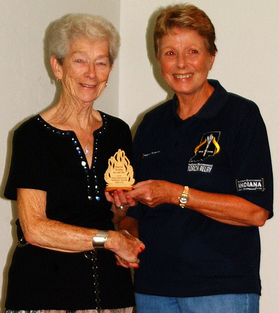 Debbie Blank | The Herald-Tribune<br /> Torchbearer nominee Delores Fritsch (left), Batesville