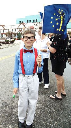 Diane Raver | The Herald-Tribune<br /> Mason Doll, 10, a Batesville Intermediate School fifth-grader, was dressed as Indiana native Orville Redenbacher.