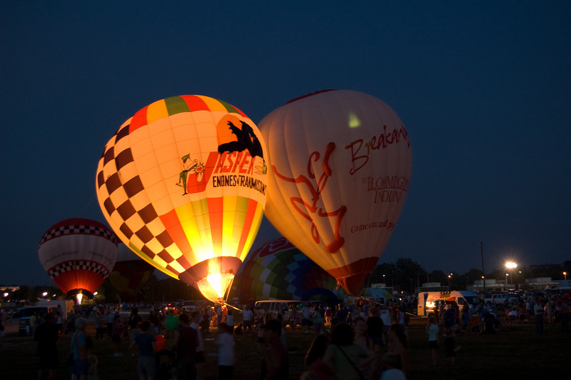 Balloon Glow at the 2007 Indiana State Fair