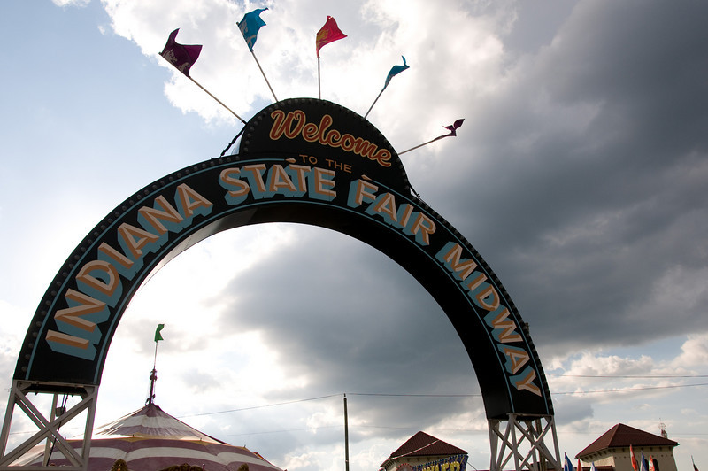 Midway at Indiana State Fair 2008