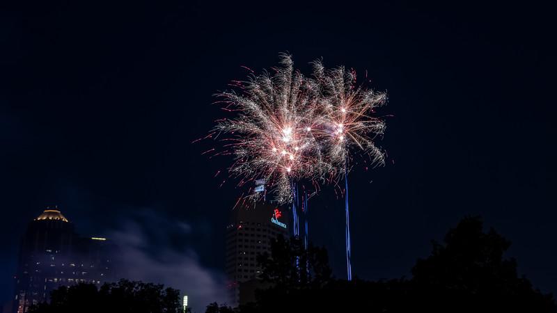 Firework celebration over Indianapolis, Indiana. Photo by Tony Vasquez July 4, 2021.